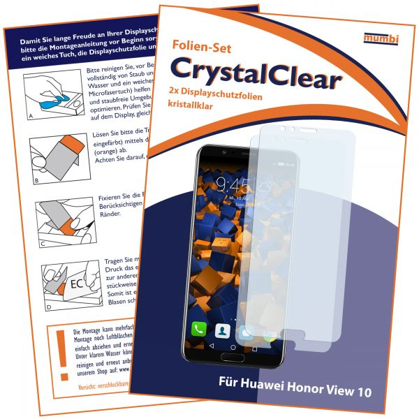 Displayschutzfolie 2 Stck. CrystalClear für Huawei Honor View 10