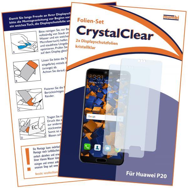 Displayschutzfolie 2 Stck. CrystalClear für Huawei P20
