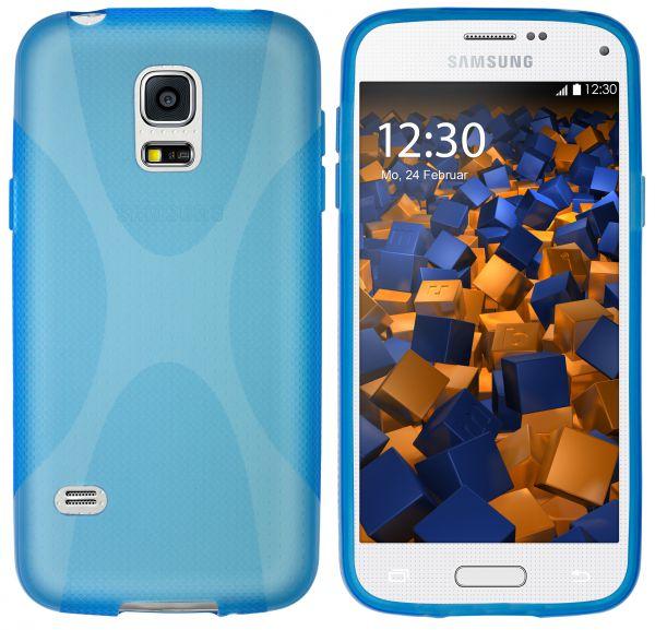 TPU Hülle X-Design blau transparent für Samsung Galaxy S5 Mini