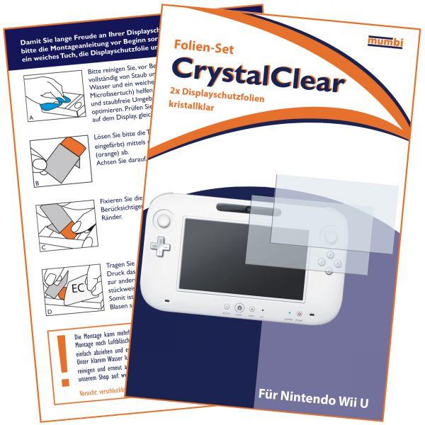 Displayschutzfolie 2 Stck. CrystalClear für Nintendo Wii U