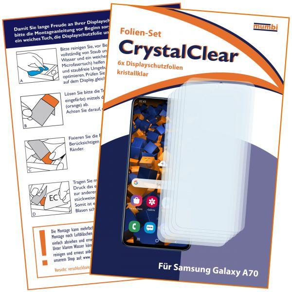 Displayschutzfolie 6 Stck. CrystalClear für Samsung Galaxy A70
