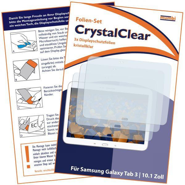 Displayschutzfolie 3 Stck. CrystalClear für Samsung Galaxy Tab 3 (10,1 Zoll)