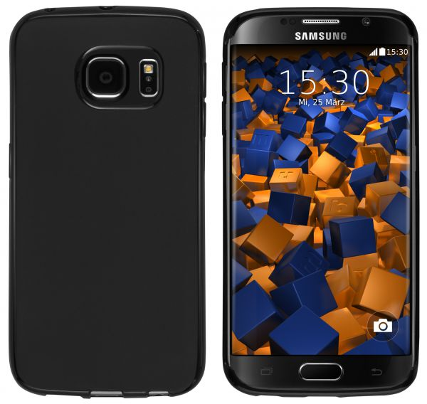 TPU Hülle Slim schwarz für Samsung Galaxy S6 Edge