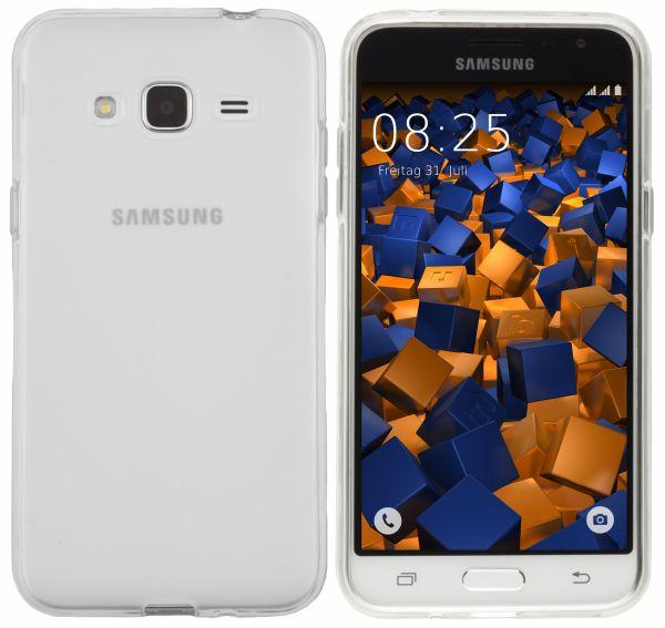 TPU Hülle weiß transparent für Samsung Galaxy J3 (2016)