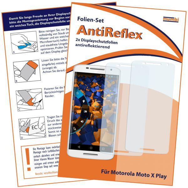 Displayschutzfolie 2 Stck. AntiReflex für Motorola Moto X Play