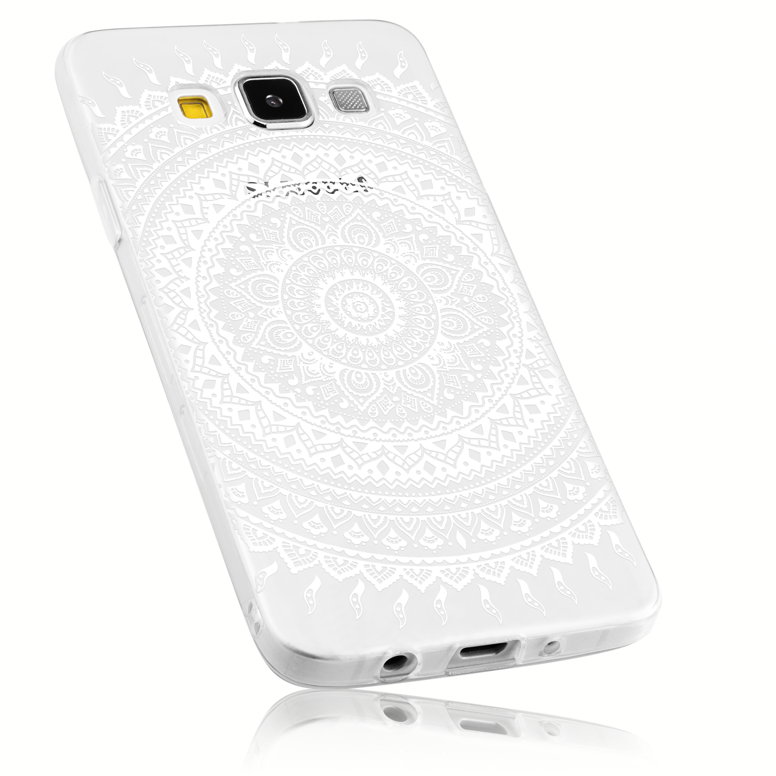 TPU Hülle transparent Motiv Mandala für Samsung Galaxy A3 2015 Schutzhüllen Galaxy A3 2015 Samsung weitere Modelle