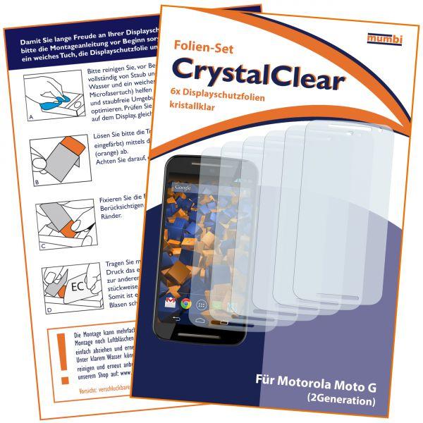 Displayschutzfolie 6 Stck. CrystalClear für Motorola Moto G 2. Generation