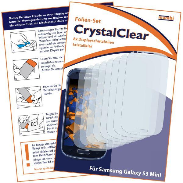 Displayschutzfolie 8 Stck. CrystalClear für Samsung Galaxy S3 Mini