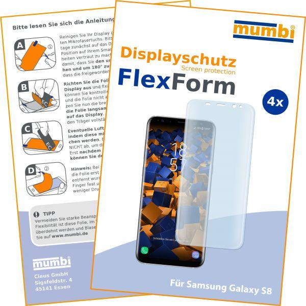 Displayschutzfolie 4 Stck. FlexForm für Samsung Galaxy S8
