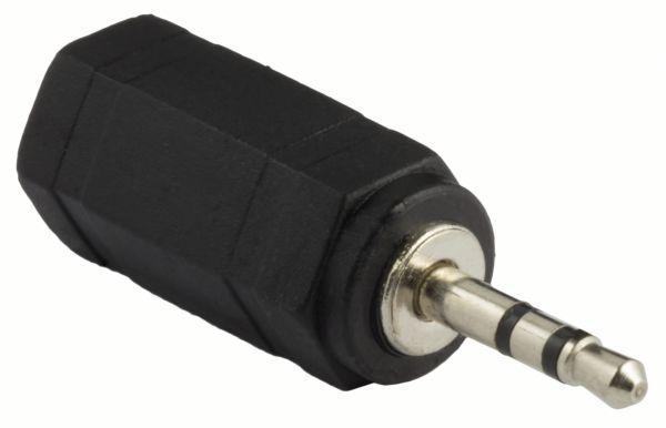 STEREO Audio Musik Klinkenadapter 2,5mm Stecker auf 3,5mm Buchse