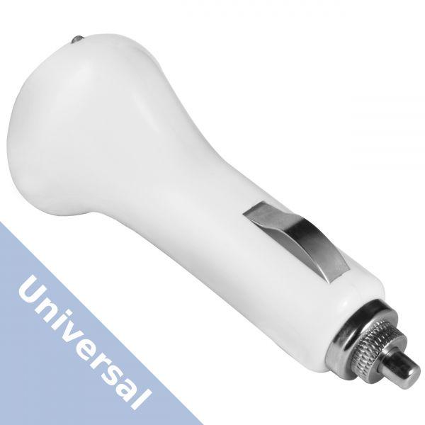 Universal KFZ Ladeadapter auf USB A Buchse weiß