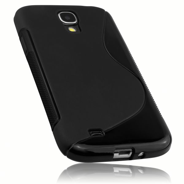 TPU Hülle S-Design schwarz für Samsung Galaxy S4