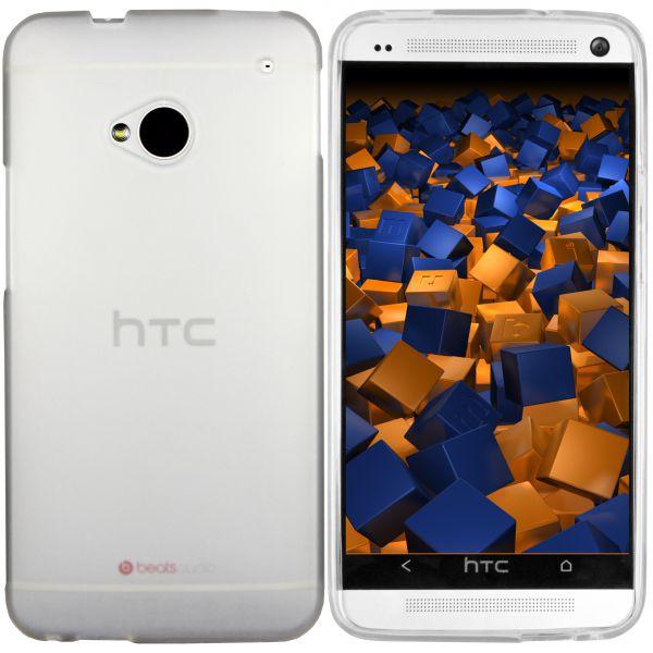 TPU Hülle transparent weiß für HTC One