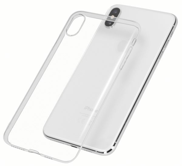 TPU Hülle Ultra Slim UV beständig transparent für Apple iPhone XS Max