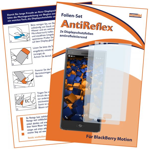 Displayschutzfolie 2 Stck. AntiReflex für Blackberry Motion