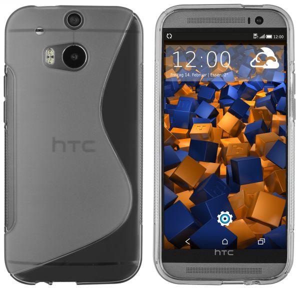 TPU Hülle S-Design transparent schwarz für HTC One M8 / M8s