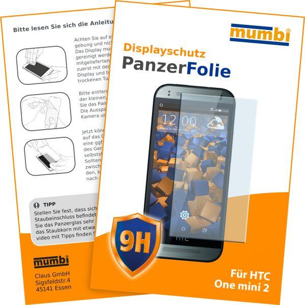 Panzerglasfolie Hartglas 9H für HTC One Mini 2