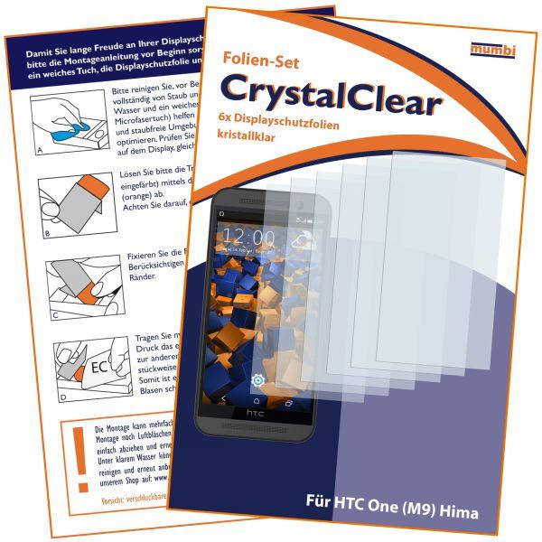 Displayschutzfolie 6 Stck. CrystalClear für HTC One M9