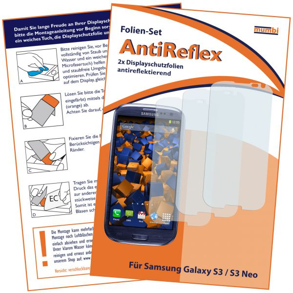 Displayschutzfolie 3 Stck. AntiReflex für Samsung Galaxy S3 / S3 Neo