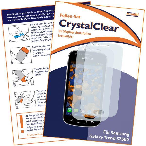 Displayschutzfolie 2 Stck. CrystalClear für Samsung Galaxy Trend / Trend Plus