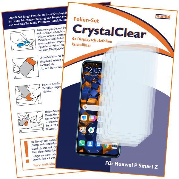 Displayschutzfolie 6 Stck. CrystalClear für Huawei P Smart Z