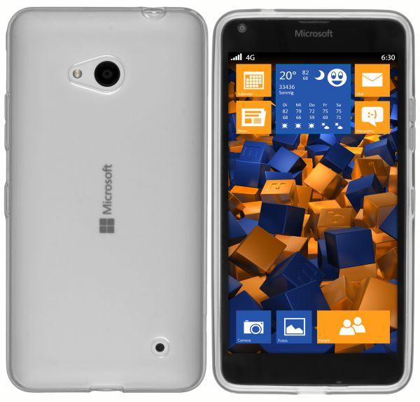 TPU Hülle weiß transparent für Microsoft Lumia 640