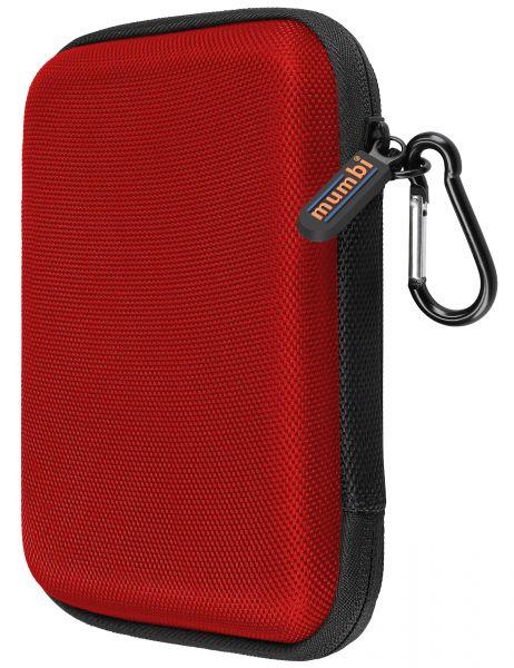 Festplattentasche bis 6,35 cm (2,5 Zoll) in Rot