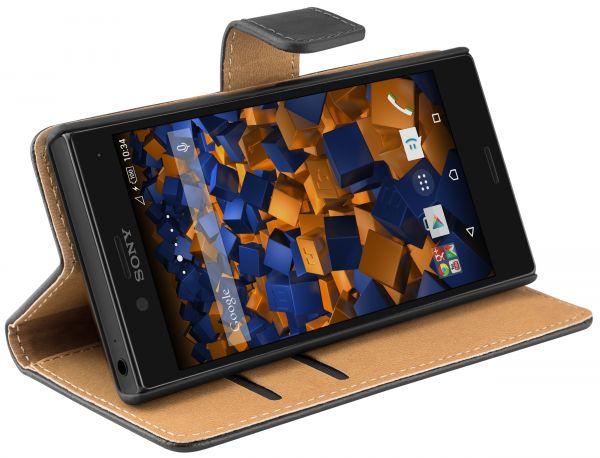 Bookstyle Tasche schwarz für Sony Xperia X Compact