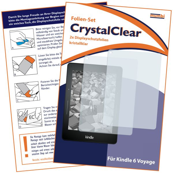 Displayschutzfolie 2 Stck. CrystalClear für Amazon Kindle Voyage