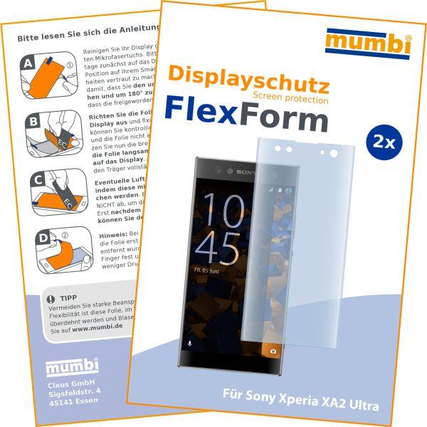 Displayschutzfolie 2 Stck. FlexForm für Sony Xperia XA2 Ultra