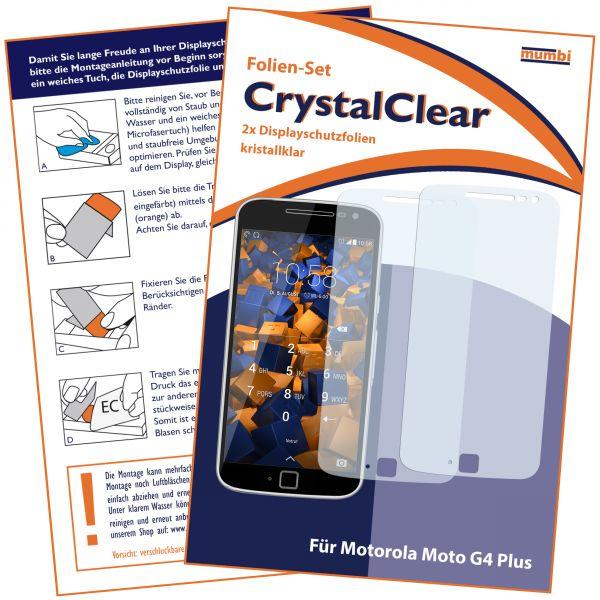 Displayschutzfolie 2 Stck. CrystalClear für Motorola Moto G4 Plus