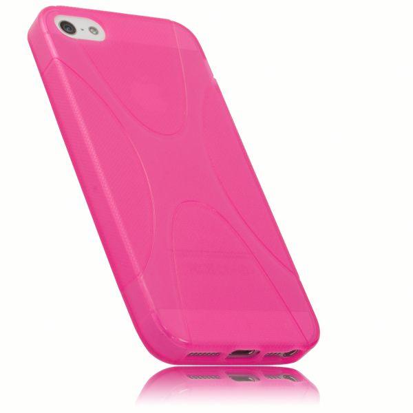TPU Hülle X-Design transparent pink für Apple iPhone SE / 5 / 5s
