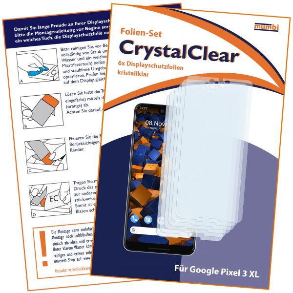 Displayschutzfolie 6 Stck. CrystalClear für Google Pixel 3 XL