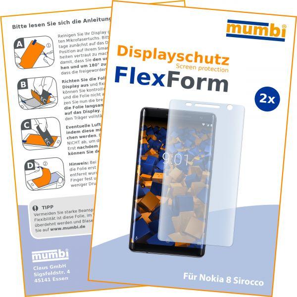 Displayschutzfolie 2 Stck. FlexForm für Nokia 8 Sirocco