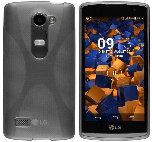 TPU Hülle X-Design schwarz transparent für LG Leon