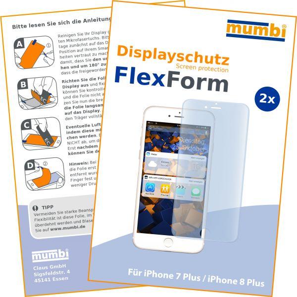 Displayschutzfolie 2 Stck. FlexForm für Apple iPhone 8 Plus / 7 Plus