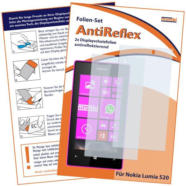 Displayschutzfolie 2 Stck. AntiReflex für Nokia Lumia 520