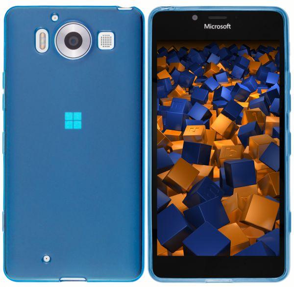 TPU Hülle blau transparent für Microsoft Lumia 950