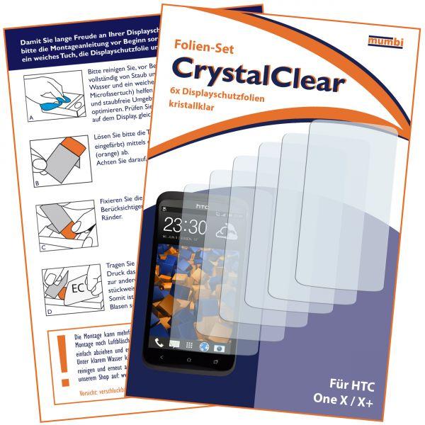 Displayschutzfolie 6 Stck. CrystalClear für HTC One X / X Plus