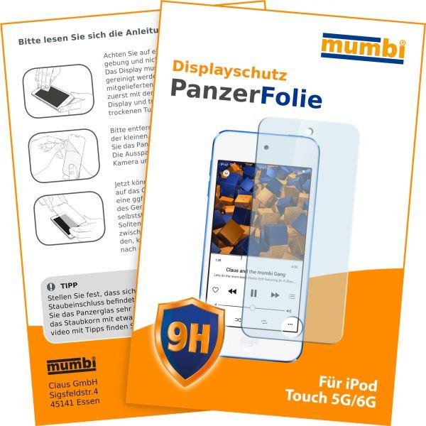 Panzerglasfolie Hartglas 9H für Apple iPod Touch 5G / 6G (2015) / 7G
