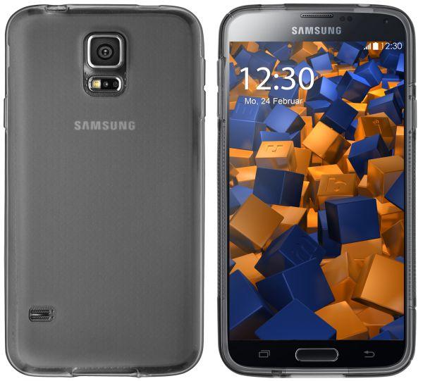 TPU Hülle schwarz transparent für Samsung Galaxy S5 / S5 Neo