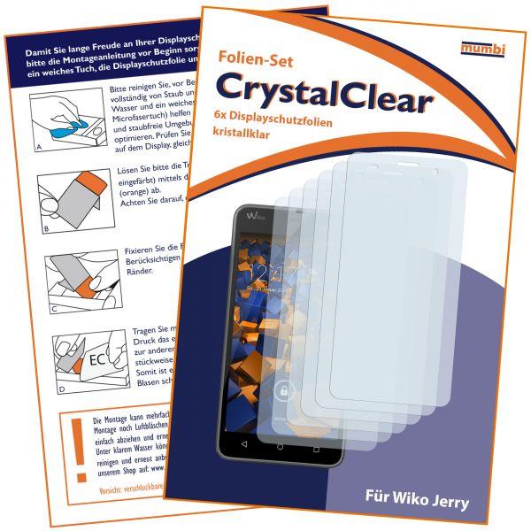 Displayschutzfolie 6 Stck. CrystalClear für Wiko Jerry