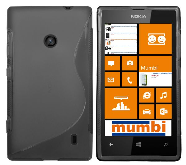 TPU Hülle S-Design transparent schwarz für Nokia Lumia 520