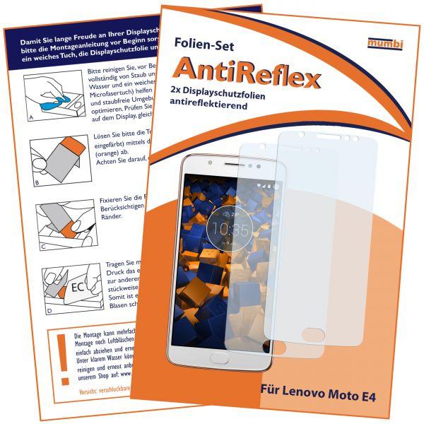 Displayschutzfolie 2 Stck. AntiReflex für Motorola Moto E4