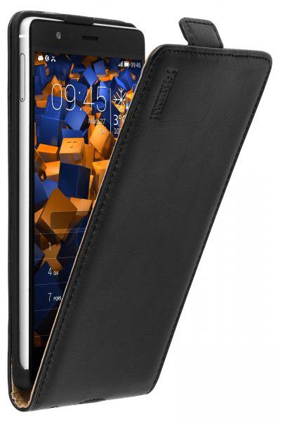 Flip Case Ledertasche schwarz für Huawei P9