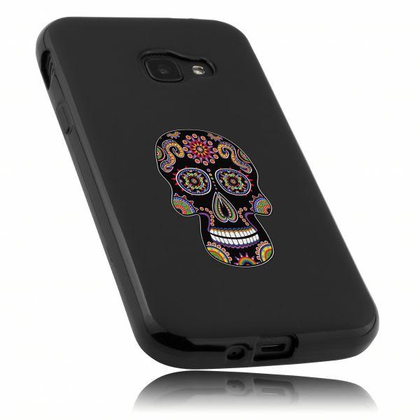 TPU Hülle Motiv Calavera schwarz für Samsung Galaxy Xcover 4 / 4s