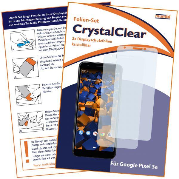 Displayschutzfolie 2 Stck. CrystalClear für Google Pixel 3a
