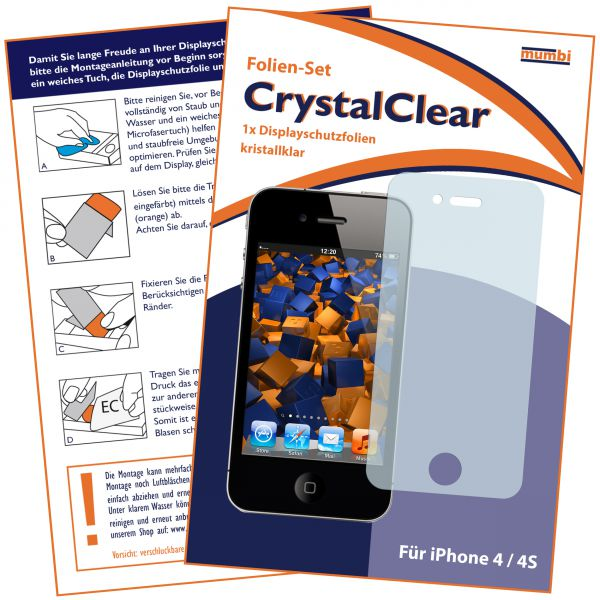 Displayschutzfolie CrystalClear für Apple iPhone 4 / 4s
