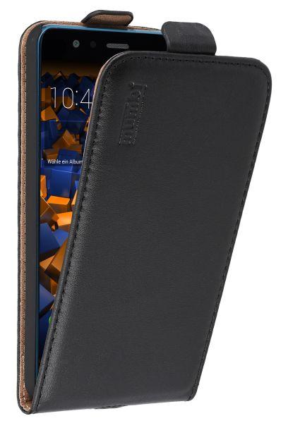 Flip Case Ledertasche schwarz für Huawei P10 Lite