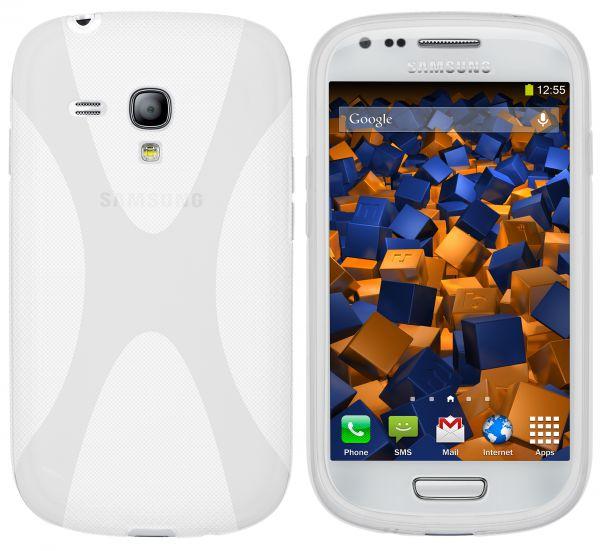 TPU Hülle X-Design weiß transparent für Samsung Galaxy S3 Mini